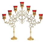 Seven-branch table 2-leg candelabrum (small)