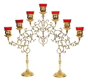 Seven-branch table 2-leg candelabrum (small)