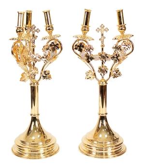 Bishop's dikirion-trikirion set no.4