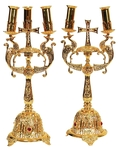 Bishop's dikirion-trikirion set no.5 cross