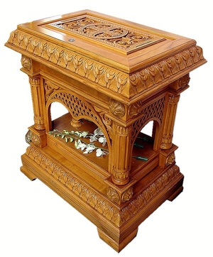 Church furniture: Serpoukhov carved church table