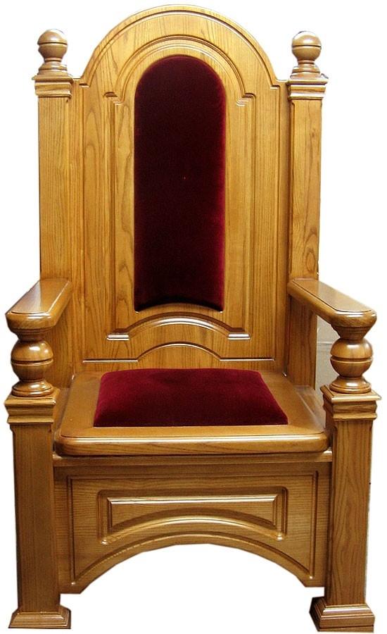 Charming Church Furniture: Bishop Throne