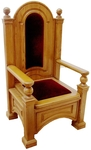 Church furniture: Bishop throne