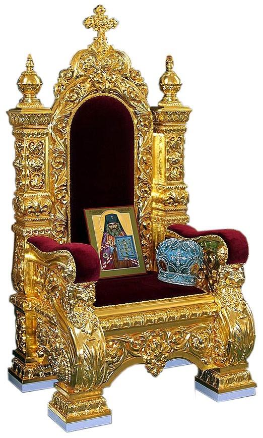 Wonderful Church Furniture: Koursk Bishop Throne (left Side View)