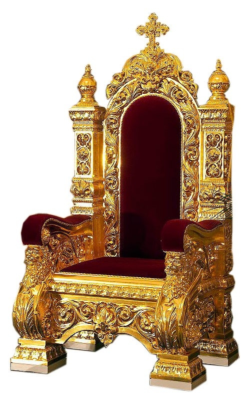 Church Furniture: Koursk Bishop Throne (right Side View)