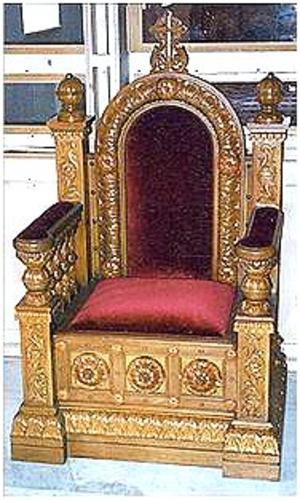 Church furniture: Bishop's throne - 2