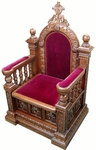 Church furniture: Bishop's throne - 9