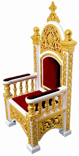 Church furniture: Bishop's throne - 4