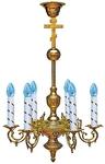 One-level church chandelier - 5 (6 lights)