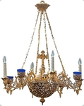 Two-level church chandelier - 13 (6 lights)