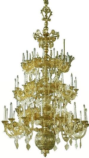 Three-level church chandelier - 8 (45 lights)
