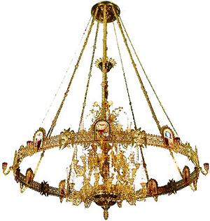 Four-level church chandelier - 2 (42 lights)