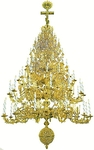 Seven-level church chandelier - 1 (98 lights)