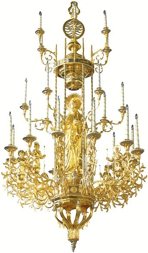 Three-level church chandelier - 1 (24 lights)