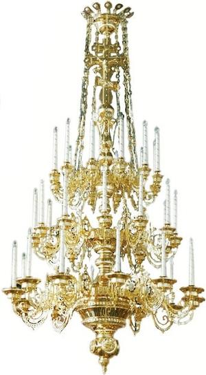 Three-level church chandelier - 4 (36 lights)
