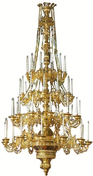 Four-level church chandelier - 5 (48 lights)