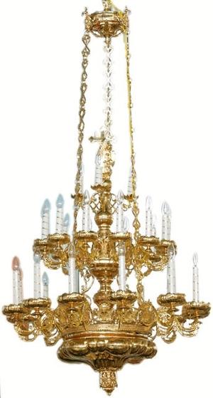 Three-level church chandelier - 2 (27 lights)