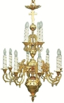 Two-level church chandelier - 2 (12 lights)