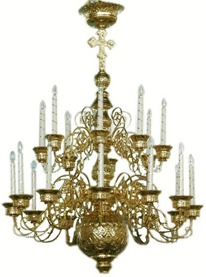 Two-level church chandelier - 6 (20 lights)
