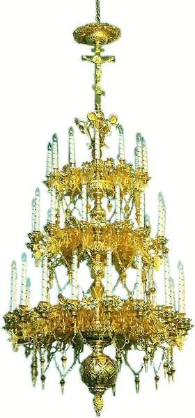 Three-level church chandelier - 7 (42 lights)