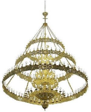 Three-level church chandelier (horos) - 2 (228 lights)