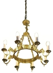 One-level church chandelier (horos) - 5 (8 lights)