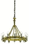 One-level church chandelier (horos) - 3 (12 lights)