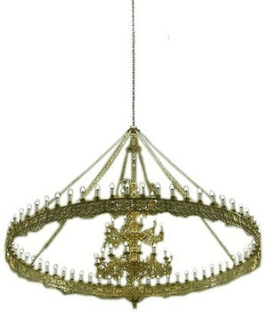 Two-level church chandelier (horos) - 3 (12 lights)
