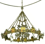 One-level church chandelier (horos) - 1 (12 lights)
