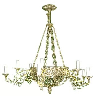 One-level church chandelier (horos) - 7 (12 lights)