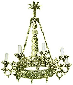 One-level church chandelier (horos) - 8 (10 lights)