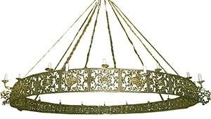 One-level church chandelier (horos) - 9