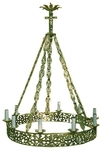 One-level church chandelier (horos) - 10 (10 lights)