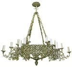 One-level church chandelier (horos) - 13 (24 lights)