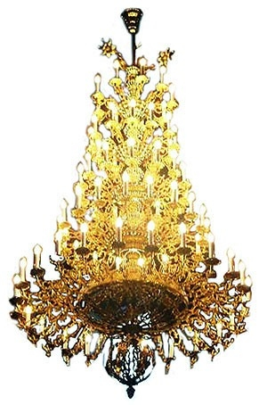 Five-level church chandelier - 2