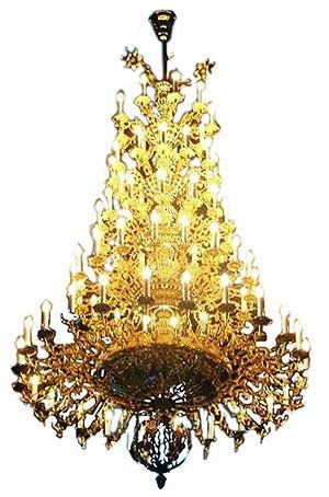 Five-level church chandelier - 2 (77 lights)