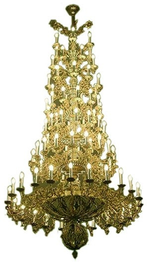 Seven-level church chandelier - 2 (91 lights)