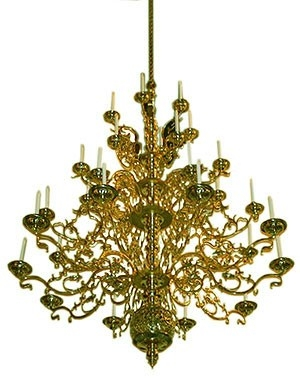Four-level church chandelier - 2