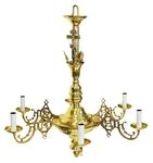 One-level church chandelier - 13 (6 lights)