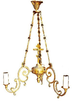 One-level church chandelier - 15 (3 lights)