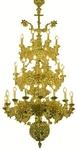 Three-level church chandelier - 10 (36 lights)
