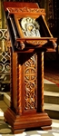 Church lecterns: Sinai carved lectern