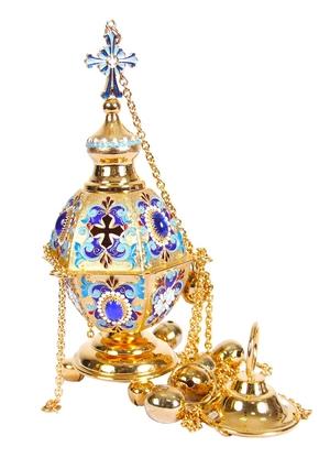 Bishop hexagon censer (enamel)