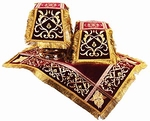 Chalice covers (veils) Wattled