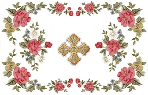 Embroidered chalice covers - Summer flowers