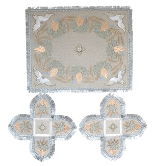 Embroidered chalice covers (veils) - Vine