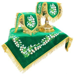 Embroidered chalice covers - Palm Sunday