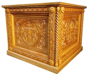 Church furniture: Ascension carved holy table