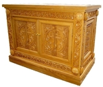 Church furniture: Exaltation altar carved table