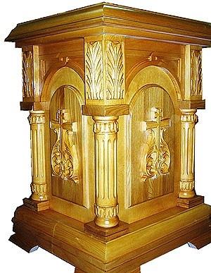 Church furniture: Dormition carved litiya table